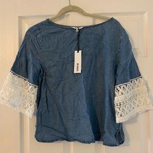 BB Dakota Jean and Lace Shirt